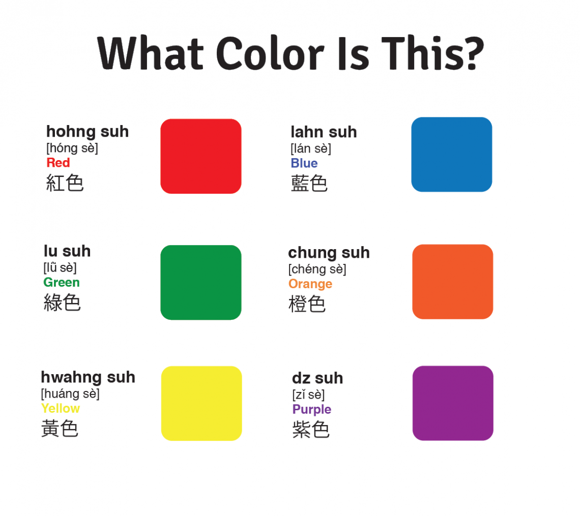 Preschool Mandarin Lesson Plan: What Color is This? - Learn with ...